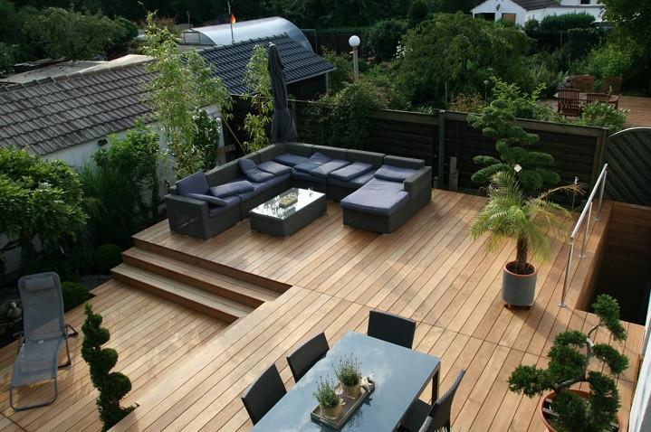 Holz Terrasse  Die Vor und Nachteile von Holzterrassen