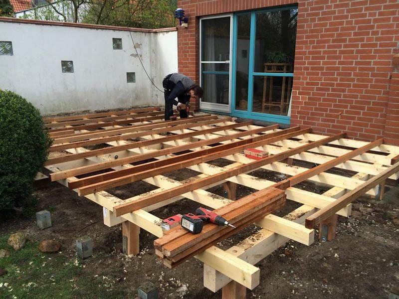 Holz Terrasse  Terrassen Unterkonstruktion [terrassen Unterkonstruktion