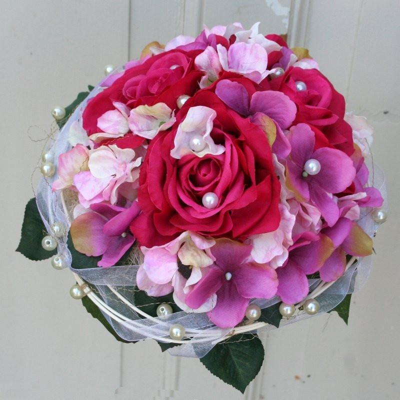 Hortensien Brautstrauß  Brautstrauß rosa