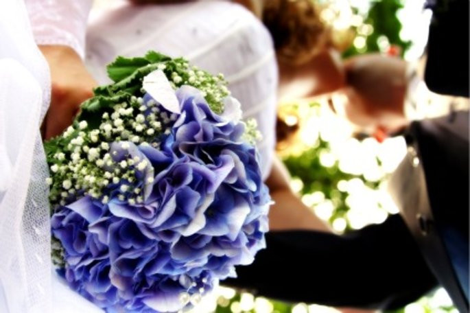 Hortensien Brautstrauß  Der Renner unter den Hochzeitsblumen Hortensien für
