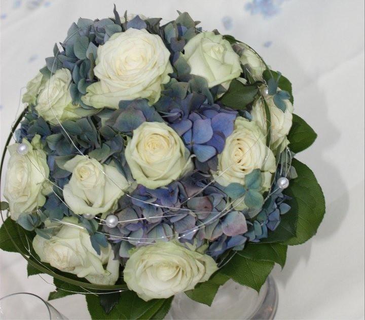 Hortensien Brautstrauß  Hortensien Brautstrauß weiß blau muss nicht immer
