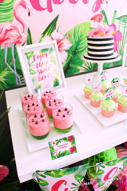 Ideen Geburtstagsfeier  Watermeloen pudding Melanie