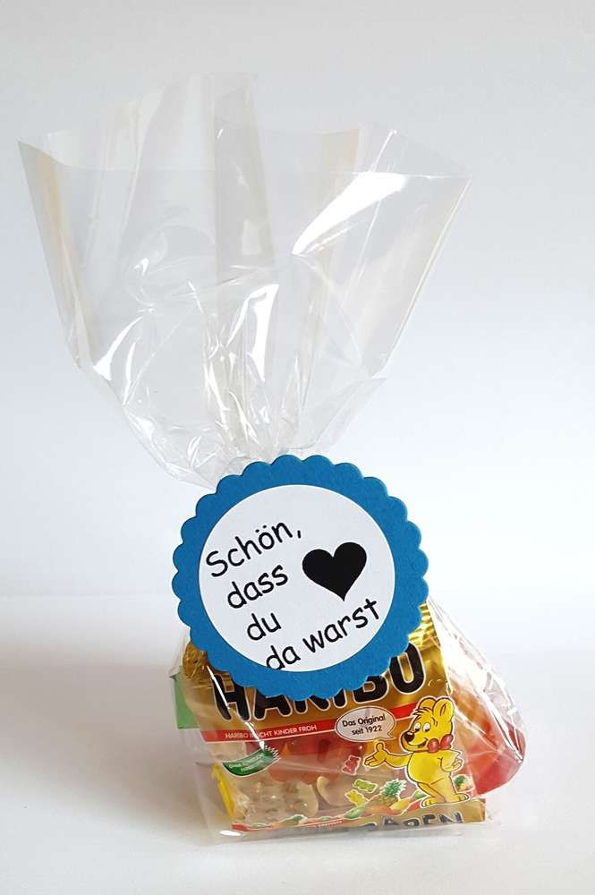 Ideen Geburtstagsfeier Erwachsene  Mitgebsel Geburtstag gemische Süßigkeiten Tüte