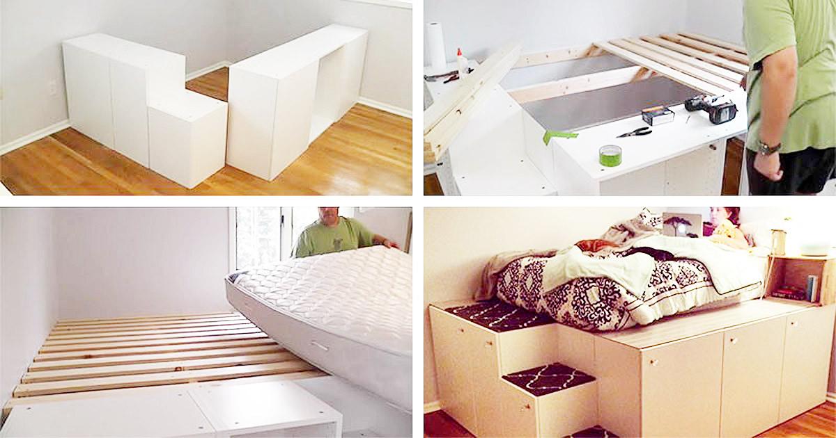 Ikea Diy Bett  Sieben einfache IKEA Hacks Ein Zimmer voller Bilder