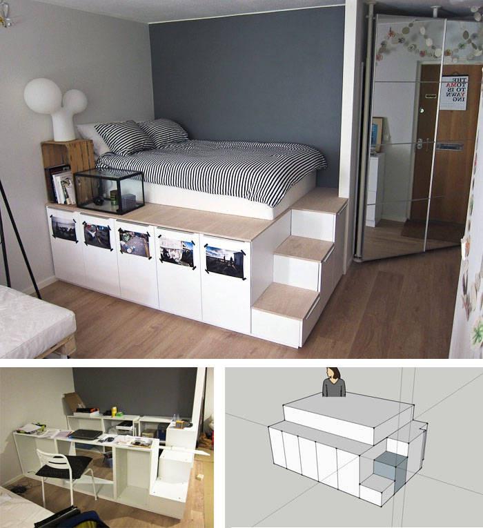 Ikea Diy Bett  Bett selber bauen 12 einmalige DIY Bett und Bettrahmen Ideen
