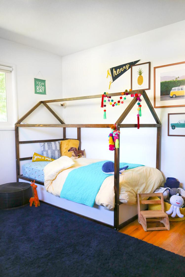 Ikea Diy Bett  Ikea Kura Bett umgestalten und ein Para s im