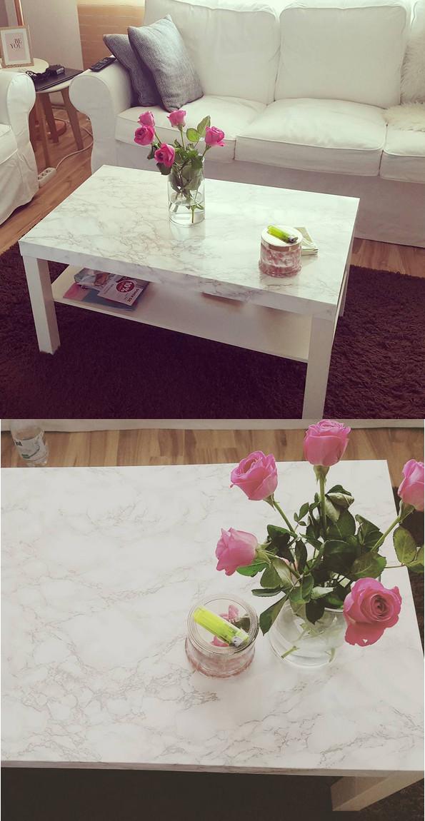 Ikea Lack Tisch Diy  INTERIOR DIY WOHNEN Marmor Tisch mit Klebefolie IKEA