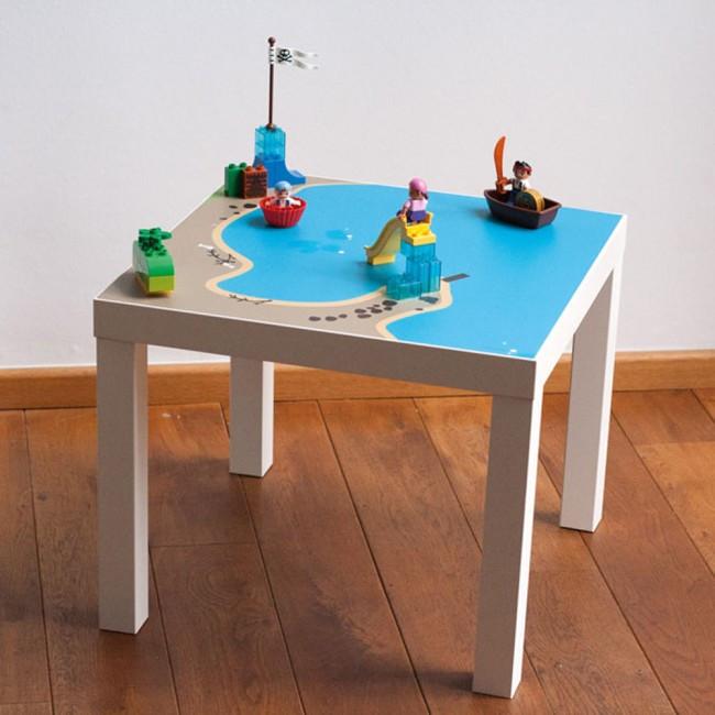 Ikea Lack Tisch Diy  Möbelfolie Wasserreich für IKEA LACK Beistelltisch