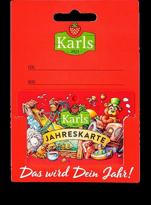 Individuelle Geschenke  Gutschein für Karls Jahreskarte rot Individuelle Geschenke