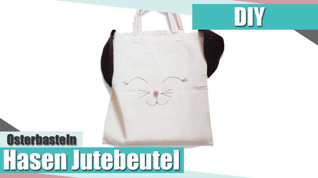 Jutebeutel Diy  [Osterbasteln] Hasen Jutebeutel DIY