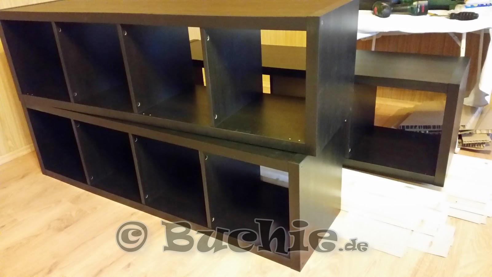 Kallax Bett Diy  Ikea Hack so wird aus Kallax Regalen ein Bett Buchie