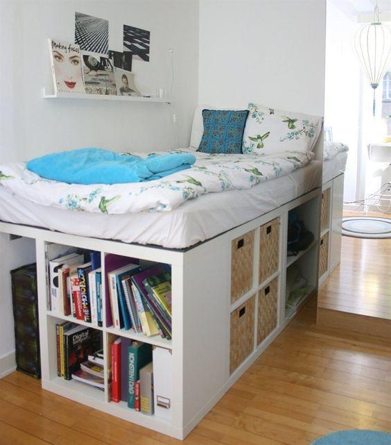 Kallax Bett Diy  Jeder kennt wohl 'Kallax' Schränke von IKEA