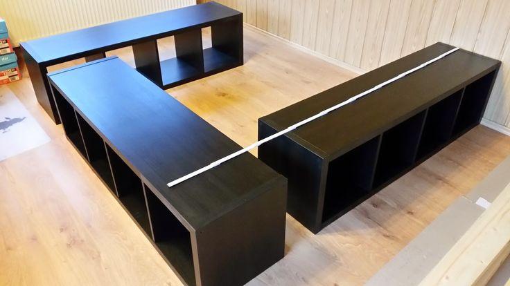 Kallax Bett Diy  Ikea Hack aus Kallax wird ein Bett