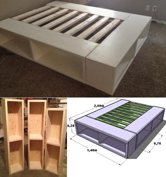 Kallax Bett Diy  Bett selber bauen für ein individuelles Schlafzimmer