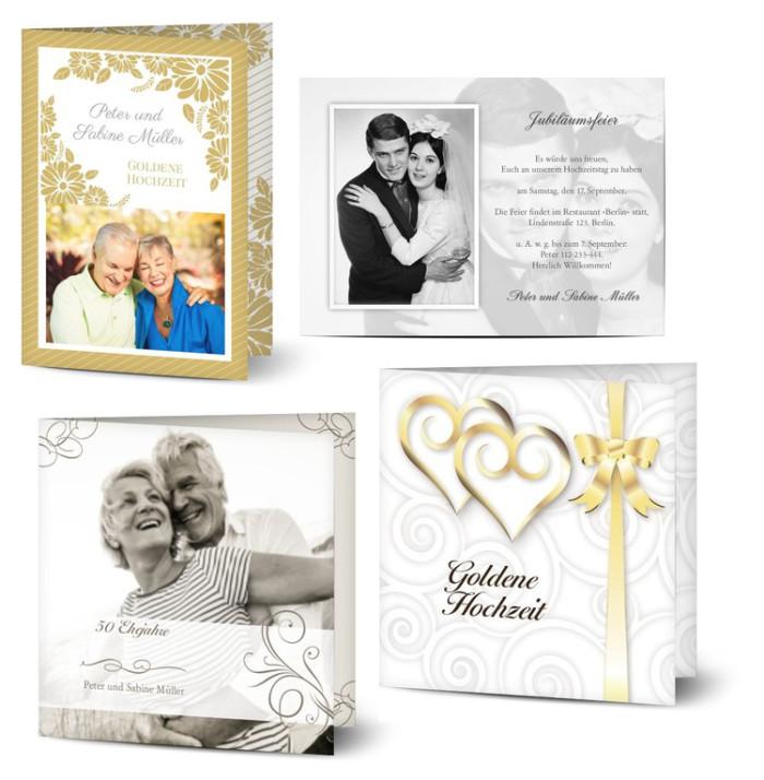 Karten Sprüche Zur Hochzeit  Sprüche und Glückwünsche zur Goldenen Hochzeit