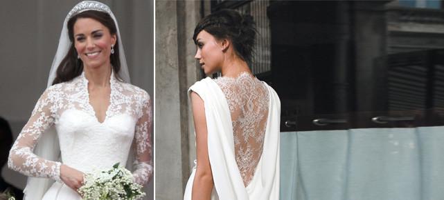 Kate Middleton Hochzeitskleid  Brautmode Brautkleider 2012 Spitze wie Kate und Charlène