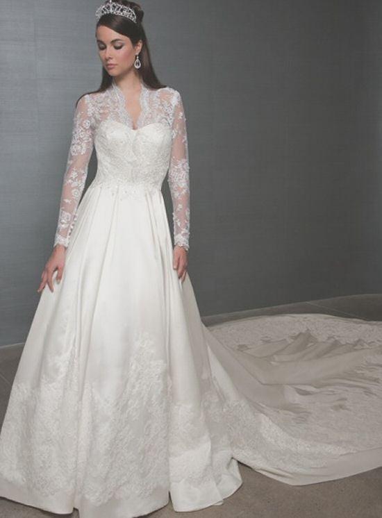 Kate Middleton Hochzeitskleid  Mori Lee Royal Train Princess Wedding Dress