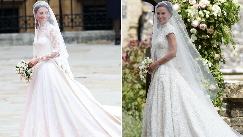 Kate Middleton Hochzeitskleid  Pippa Middleton vs Kate wer hatte das schönere