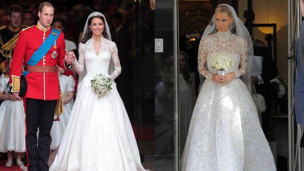Kate Middleton Hochzeitskleid  Kate Middleton als Style Vorbild Nicky Hilton kopiert