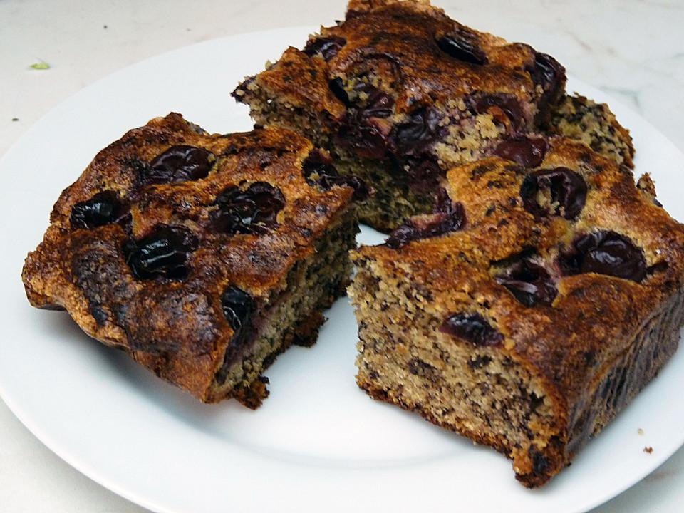 Kirsch Schoko Kuchen  Hermann Schoko Kirsch Kuchen Rezept mit Bild