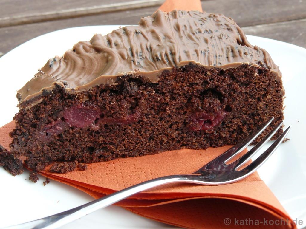 Kirsch Schoko Kuchen  Schoko Kirsch Kuchen Katha kocht