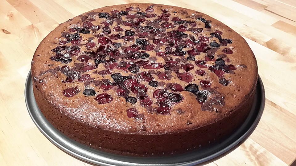 Kirsch Schoko Kuchen  Schoko Kirsch Kuchen Rezept mit Bild von Tinchen27