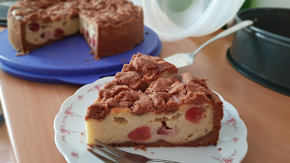 Kirsch Schoko Kuchen  Kirsch Schoko Streusel Kuchen von luckys home