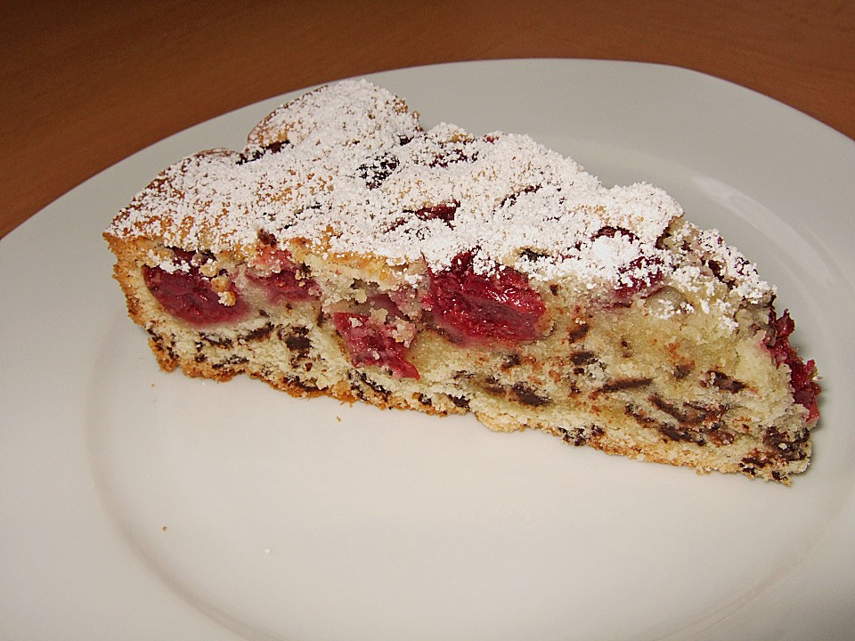 Kirsch Schoko Kuchen  Versunkener Kirsch Schoko Kuchen Rezept mit Bild