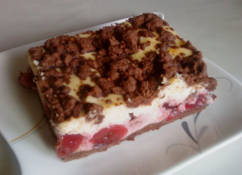 Kirsch Schoko Kuchen  Kirsch Schoko Streusel Kuchen Rezept mit Bild