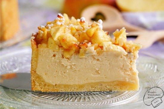 Kleiner Geburtstagskuchen  Kleiner Apfel Käsekuchen Rezept mit Bild von Löffel voll