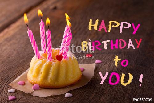 """Kleiner Geburtstagskuchen  """"Happy Birthday Kleiner Geburtstagskuchen mit Kerzen"""