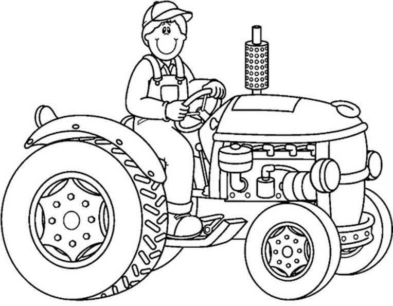 20 Ideen Für Kleiner Roter Traktor Ausmalbilder Beste