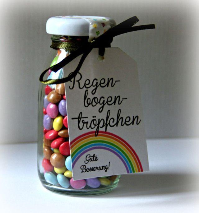 Kleines Geburtstagsgeschenk  Regenbogentröpfchen als kleine Mutmacher und