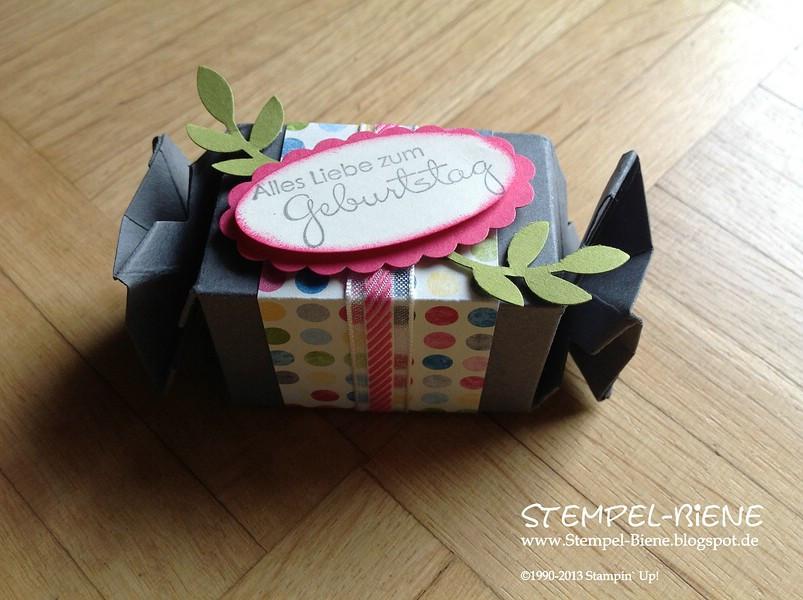 Kleines Geburtstagsgeschenk  Stempel Biene Ein kleines Geburtstagsgeschenk