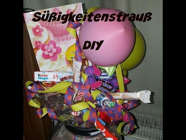 Kleines Geburtstagsgeschenk  DIY SÜSSIGKEITENSTRAUß KLEINES GEBURTSTAGSGESCHENK