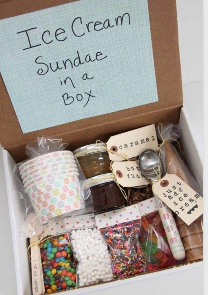 Kleines Geburtstagsgeschenk  geschenkideen fuer beste freundin eis selber machen