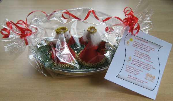 Kleines Geburtstagsgeschenk  Basteln im Winter zum Advent Nikolaus und Weihnachten