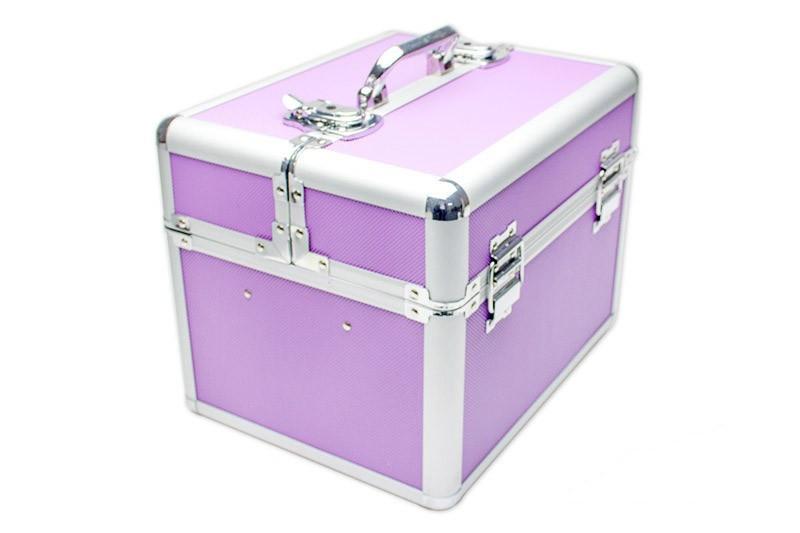 Koffer Für Nageldesign  Kosmetikkoffer – Mobiler Kosmetikkoffer lila von German