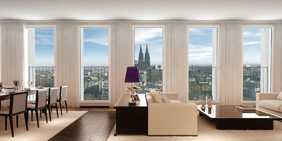 Köln Wohnung Mieten  Penthouse im Gerling Quartier Das ist Kölns teuerste
