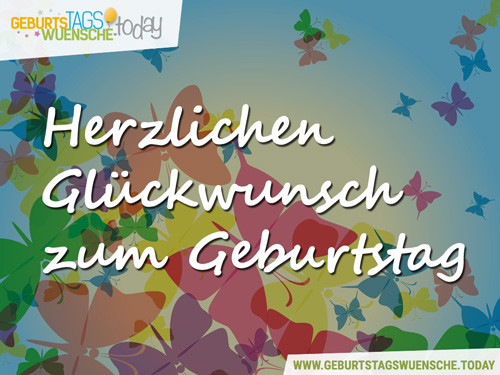 """Kostenlose Geburtstagswünsche  Liebe Geburtstagsgrüße Bild """"Herzlichen Glückwunsch"""""""