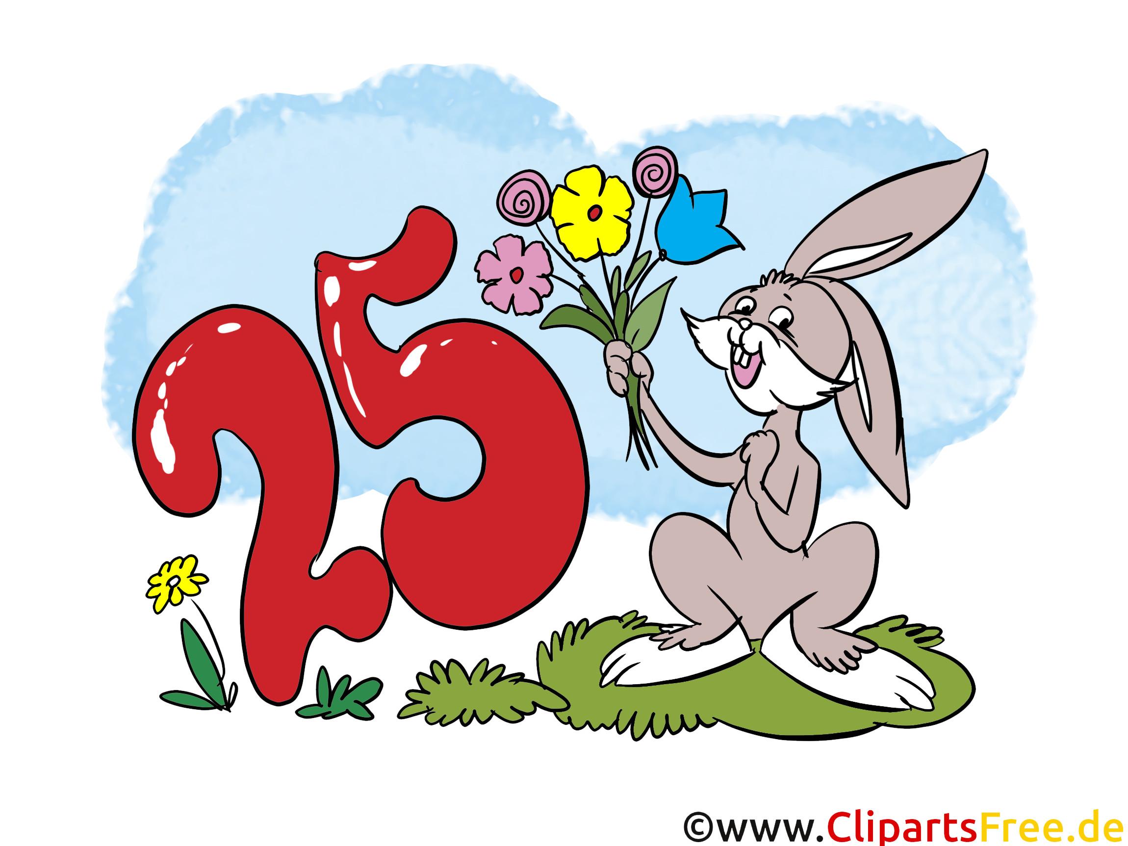 Kostenlose Geburtstagswünsche  Lustige Geburtstagswünsche zum 25 Geburtstag eCard Bild