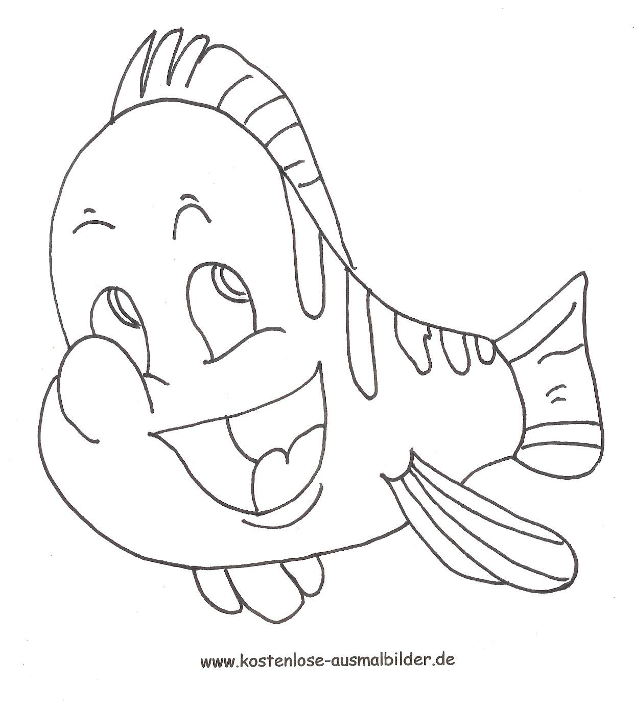 Kostenlose Malvorlagen  Pin Malvorlagen Ausmalbilder Fisch Von Arielle on Pinterest