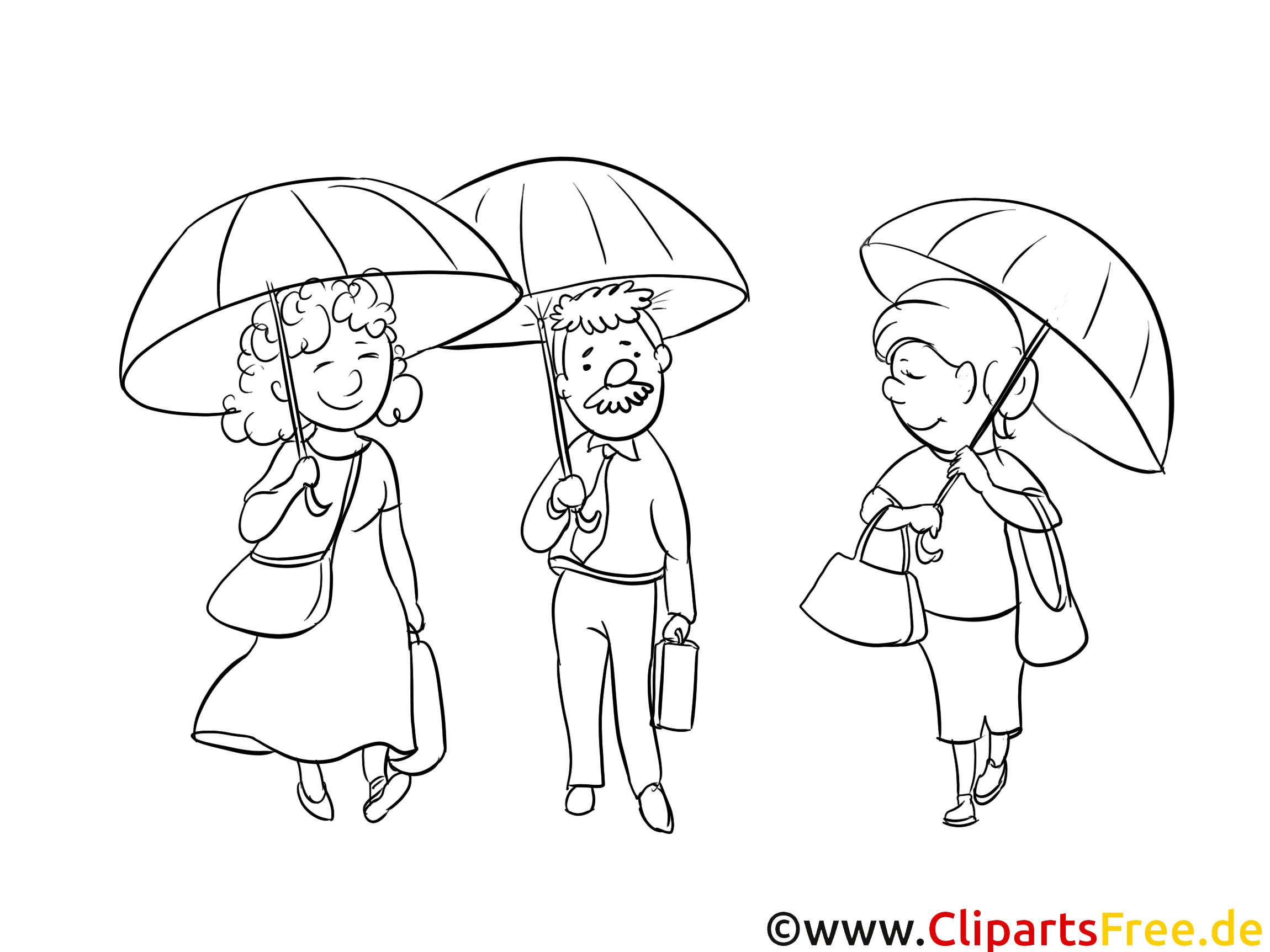 Kostenlose Malvorlagen  Regen kostenlose Ausmalbilder und Malvorlagen mit Menschen