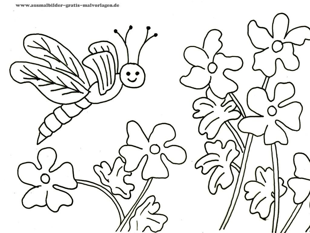 Kostenlose Malvorlagen  Malvorlagen Blumen