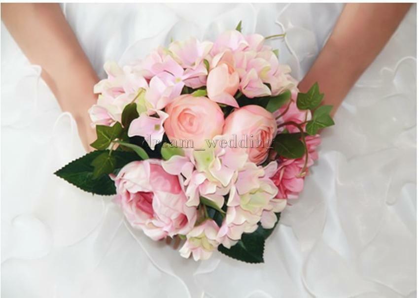Künstlicher Brautstrauß  HOCHZEIT PFINGSTROSE BLUMENSTRAUß Brautstrauß Künstliche