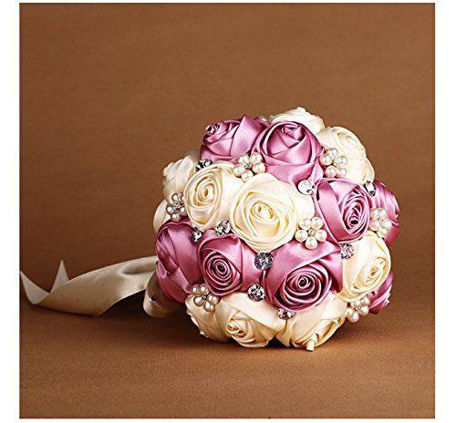 Künstlicher Brautstrauß  Schöner künstlicher Brautstrauß in rosa und creme Davon
