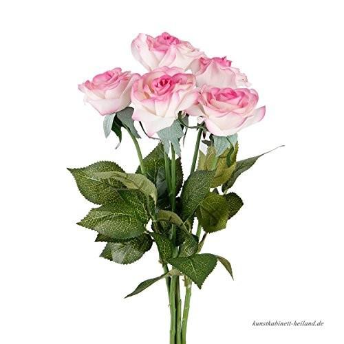 Künstlicher Brautstrauß  TININNA 5 Stück Latex Real Touch Kunstblumen Künstliche