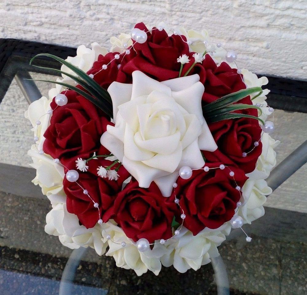 Künstlicher Brautstrauß  Künstlicher Brautstrauss Brautkleid Hochzeit Brautstrauß