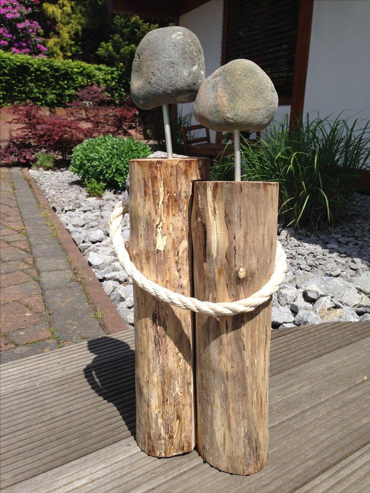 Kuriose Geschenke  Holzstamm Pärchen verschenkt zur Silberhochzeit