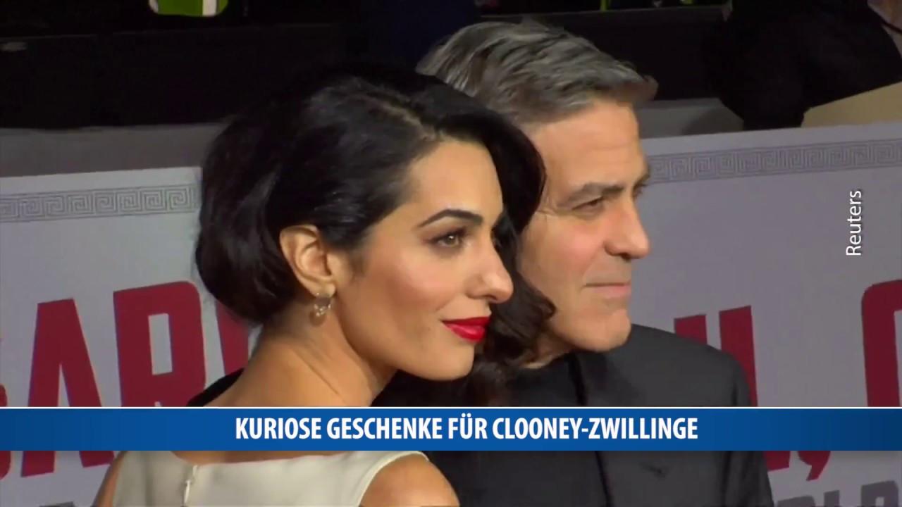 Kuriose Geschenke  Kuriose Geschenke für Clooney Zwillinge